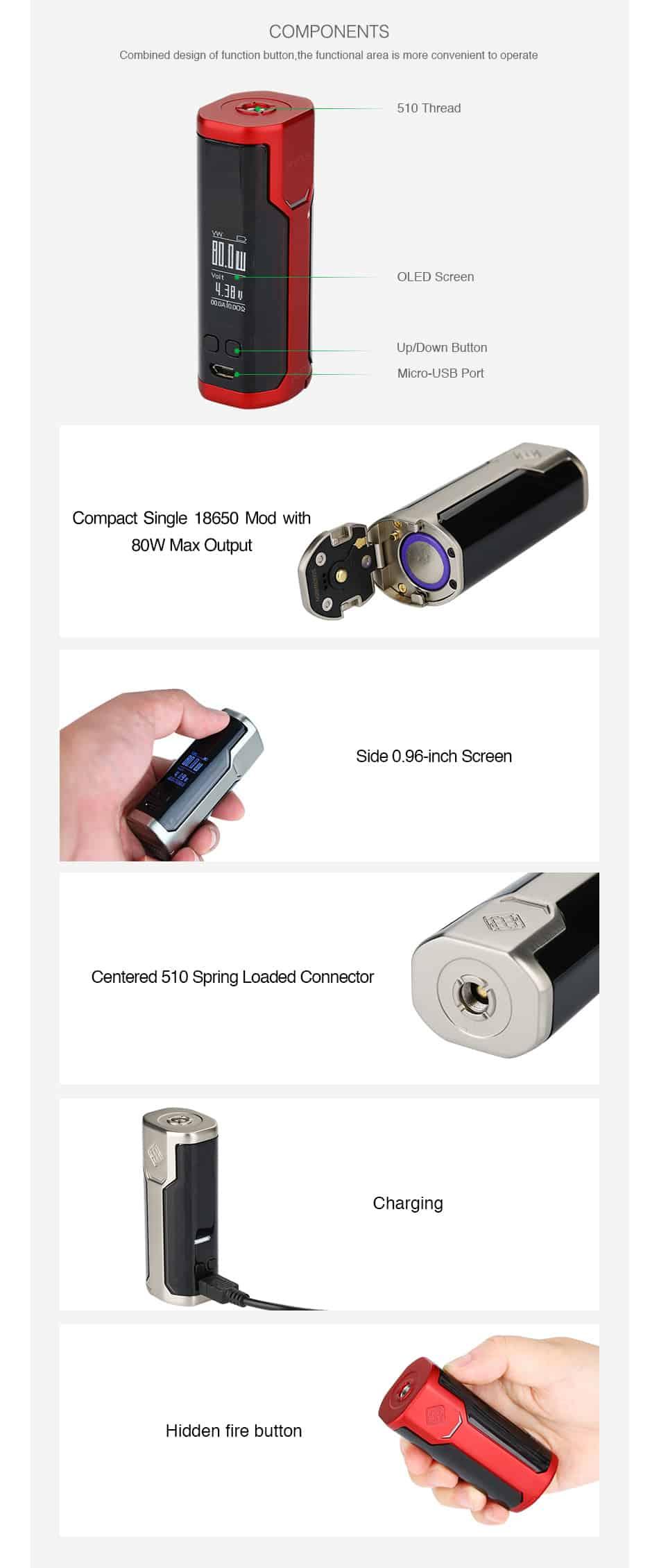 80W WISMEC SINUOUS P80 TC MOD W O Battery 06 576cea   E-sigarett, E-juice og Aroma nettbutikk   ECigge.no